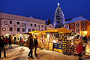 Advent market on the Český Krumlov town square