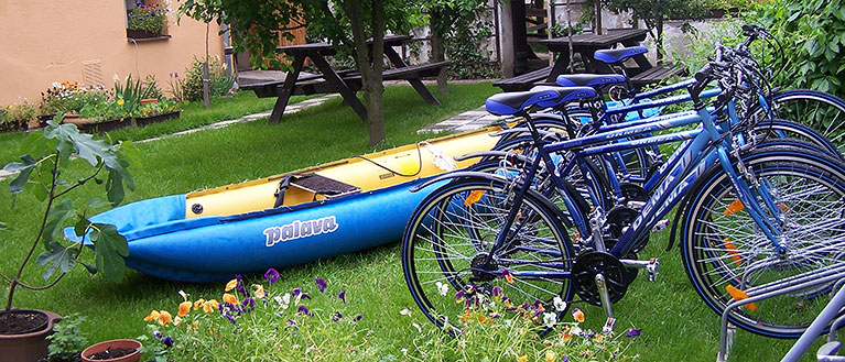 We'll rent you rafts and bikes directly at Hostel Havana